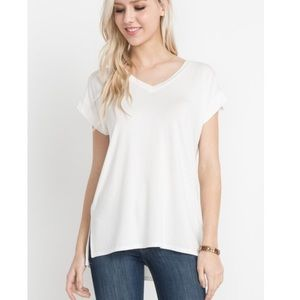 Bamboo short sleeve T-shirt  Off White
